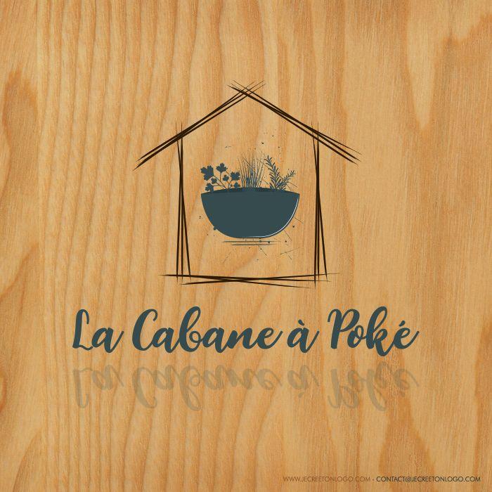 cabane logo restaurant bois