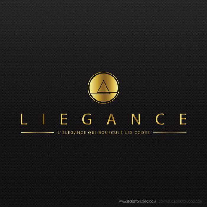 logo or noir luxueux