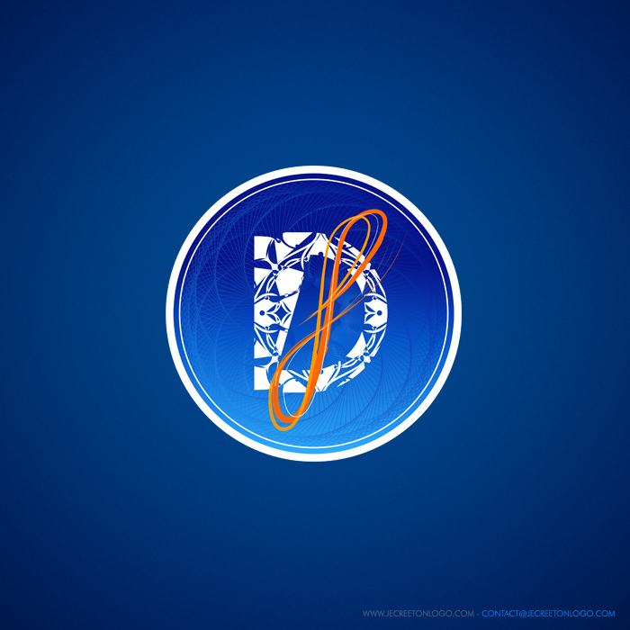 logo rond bleu orange d