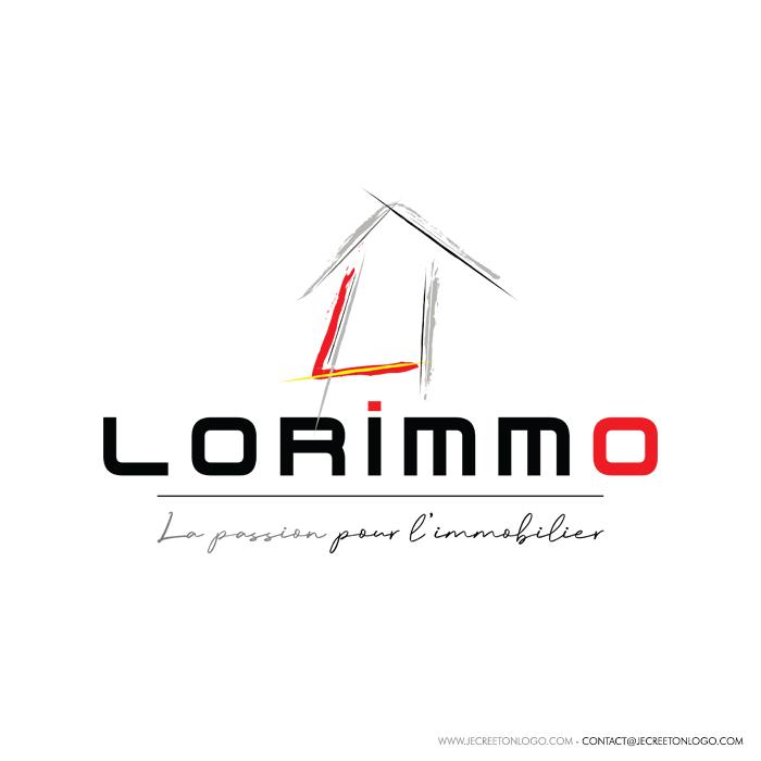 logo pinceau rouge gris noir maison