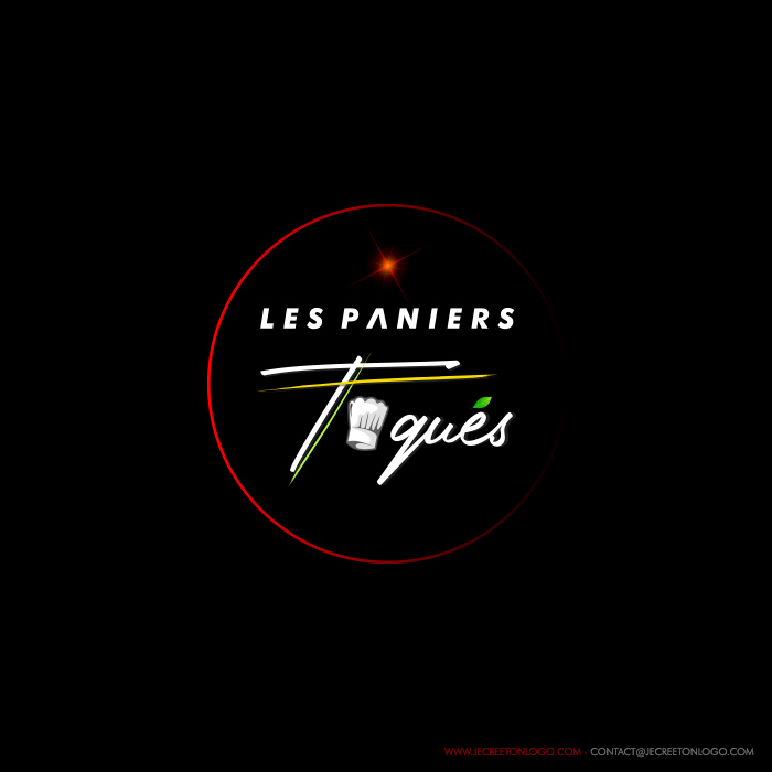 logo luxe rond rouge vert cuisine