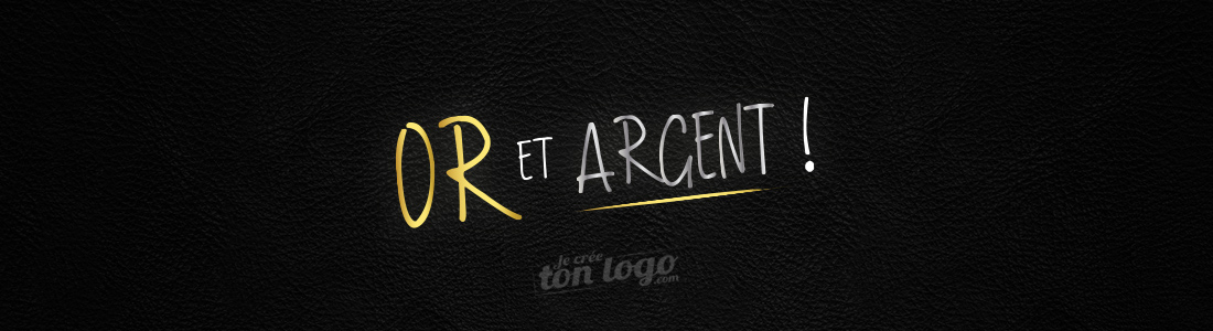 logo or argent luxe cuir